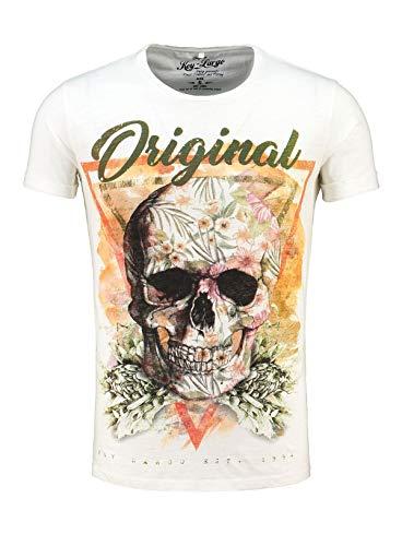 KEY LARGO Male Shirt MT Triangle Skull Blanco M