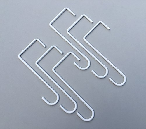 "Alumahangers Made in USA. powder coated steel hangers - 3""x 8"" Lattice Hanger (6 pack)""White"" for Alumawood Lattice or pergola patio covers - easy to use and great for heavier decorating items!"