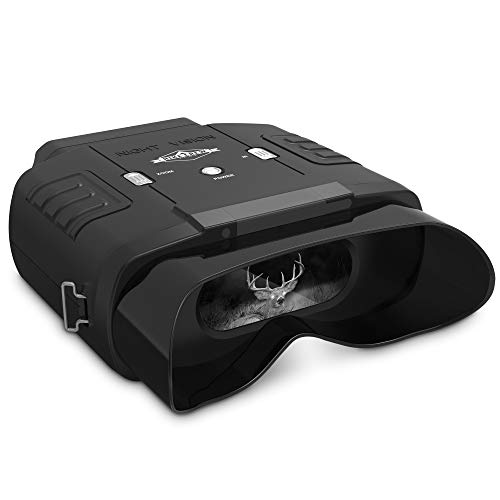 Hike Crew Digital Night Vision Binoculars, See Clear in 100% Total Darkness, Large Viewing LCD Screen, Long Viewing Distance, Infrared Night Vision Goggles for Hunting with 7X Optical Zoom