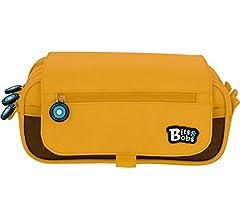 Grafoplás Bits & Bobs - Estuche 3 Compartimentos con Solapa, Amarillo, 23 cm: Amazon.es: Equipaje