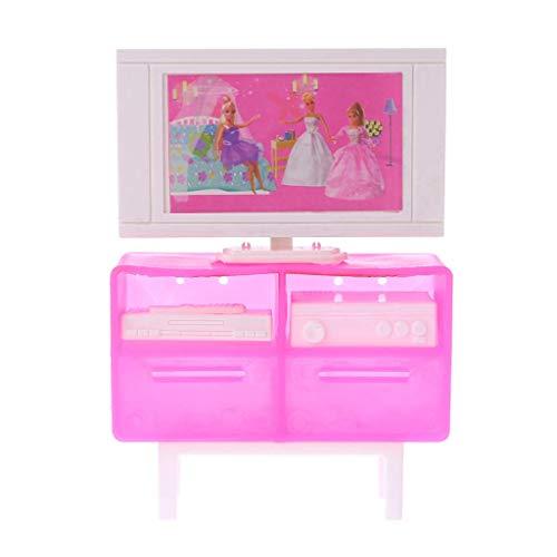 N-K PULABO muñeca Televisión Stand Simulación Dollhouse Muebles Miniatura TV Gabinete Aparatos Casa Juego Niños Juguetes Regalos Cómodo y Ambientalmente Económico