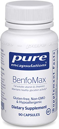 Pure Encapsulations BenfoMax | B1 (Thiamine) Supplement to Support a Healthy Glucose Metabolism and Kidney Cellular Health* | 90 Capsules
