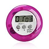 ZXL Farbe Digital Wecker Runde LCD Digital Kitchen Countdown Timer Alarm mit Stand Küche Kochen Timer, lila