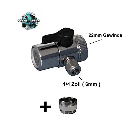 Universal Wasserhahn Adapter für den Anschluss an die Armatur inkl. Doppel Gewinde Adapter - Wasserfilter Küchenfilter Osmoseanlage Umkehrosmose Schnellverbindung Verbinder Aquarium Filter Osmose