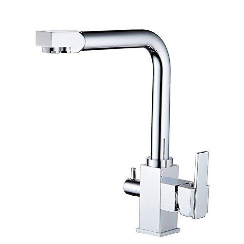 YAWEDA 360 grados giratoria grifo, fría y caliente grifo de la cocina, grifo de agua purificada, Plato de cabeza del grifo, fregadero de la cocina, grifo de la cocina.