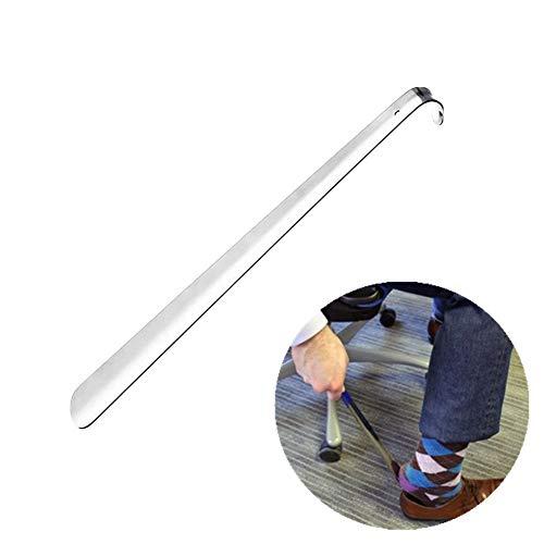 """Morbuy Chausse-Pied Manche, Acier Inoxydable Facile à Utiliser Élégant Chausse-Pied Portable en métal Convient pour Toutes Les Tailles de Pieds (30cm / 11.8"""")"""