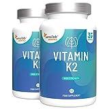 Vitamin K2, MK-7-Form 200 µg - 60 Kapseln hochdosiert - mikroverkapseltes Vitamin K2 in biologisch...