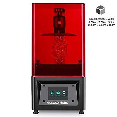 """ELEGOO MARS UV LCD 3D Drucker mit 3,5 Zoll Smart Farbtouchscreen Offline-Drucken Druckbereich von 4.72""""(L) x 2.68""""(W) x 6.1""""(H)"""