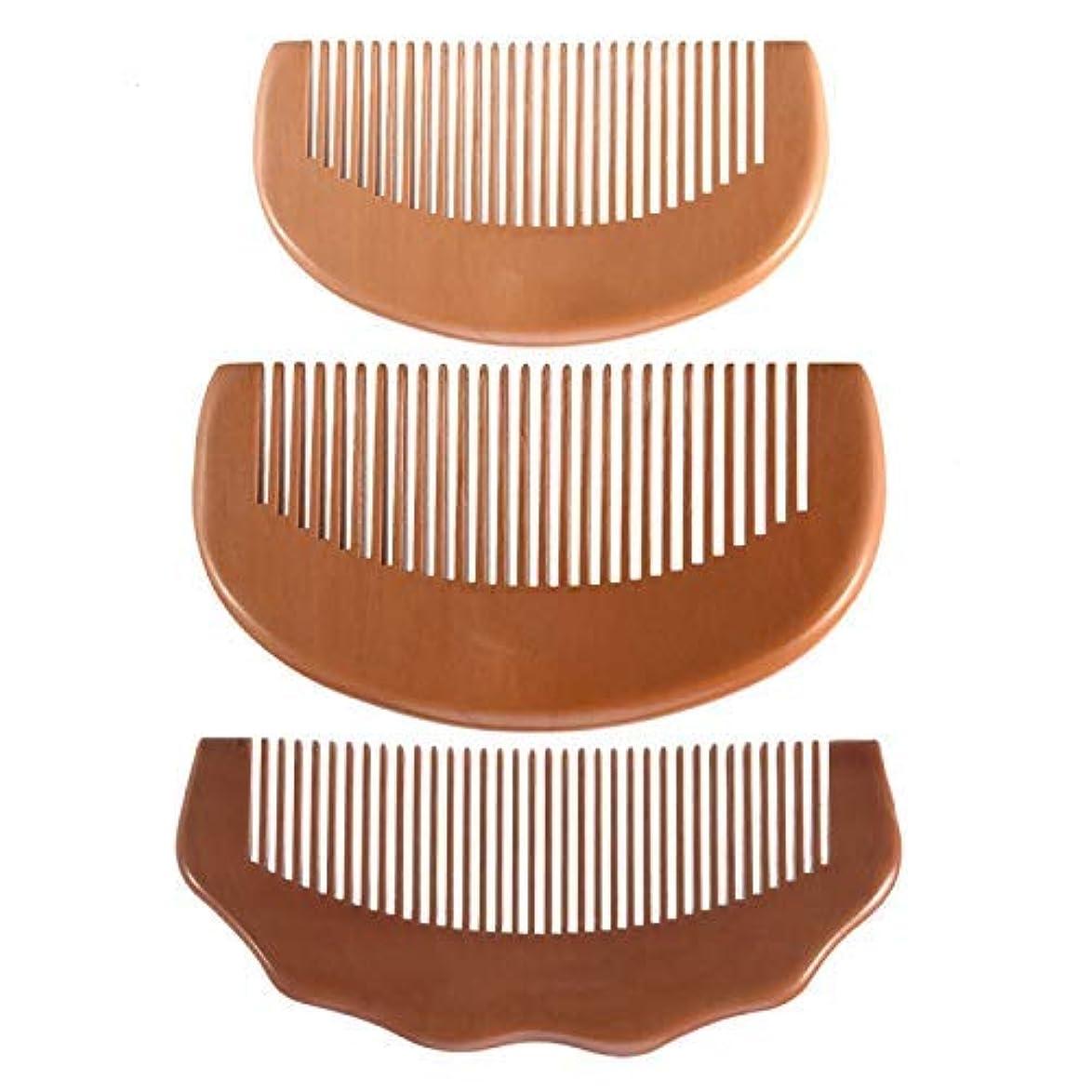 パシフィックすり減る性交Feeko Comb, Natural Anti Static Wooden Comb for Wrapping and Styling Wet Or Dry Curling Thick Wavy Or Straight Hair Small Pocket Size Suitable for Men and Women's Peach Wood Comb [並行輸入品]