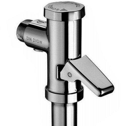 Schell WC-Druckspüler, Messing mit Spülstromregulierung, Verwendung: Flach und Tiefspülbecken, Fließdruck: ab 1,2 bar, 1 Stück, SCH022020621, Chrom