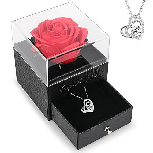 Handmade Rosa Eternal,Regalo Moglie,Romantico Regalo Mamma Compleanno,Pacco Regalo per Moglie, Nonna, mamma, San Valentino, Festa Della Mamma,Regalo Anniversario per lei