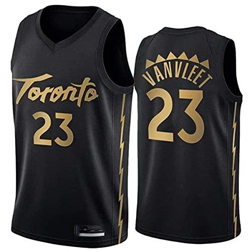 Camiseta de Baloncesto de los Hombres Raptores de la NBA 23# Vanvleet Cómodo/liviano/Transpirable Malla Bordada Swing Swing Camiseta Retro Sudadera,XXL