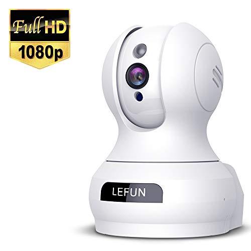 Lefun ネットワークカメラ1080P 200万画素 ベビーモニター IP監視防犯カメラ 高解像度 無線ワイヤレス屋内...