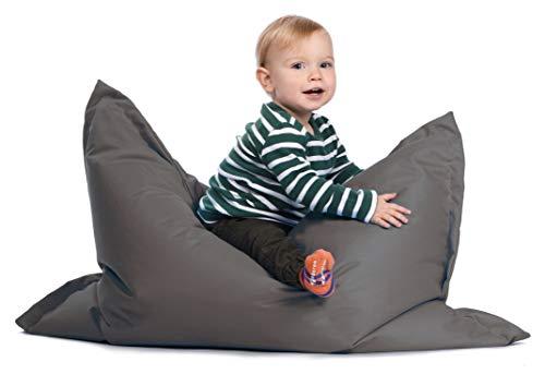 sunnypillow S Sitzsack, Outdoor & Indoor 100 x 70 cm mit 60L Styropor Füllung Sessel für Kinder & Erwachsene Sitzkissen Sofa Beanbag viele Farben und Größen zur Auswahl Anthrazit