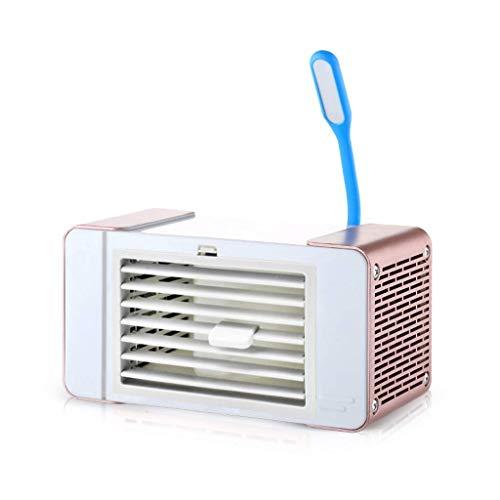 XXF-Shop Purificador de humidificador de Ventilador de refrigeración Personal con Ventiladores de Aire evaporativo refrigerador de Aire humidificador de Enfriador de Aire (Color : Rose Gold)