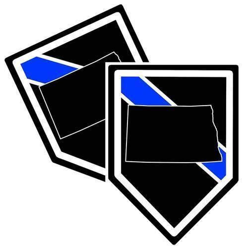 Lámina adhesiva resistente a la intemperie, fabricada en Alemania, Polizei, Estados Unidos, Policía, Norte, DAKOTA, línea azul, resistente a los rayos UV y a los lavados