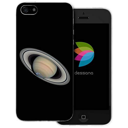 dessana Planeten transparente Schutzhülle Handy Case Cover Tasche für Apple iPhone 5/5S/SE Saturn