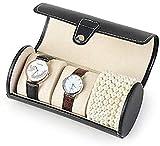 Caja de reloj Organizador Caja de almacenamiento de reloj PU Cuero Desmontable Almohadas de reloj