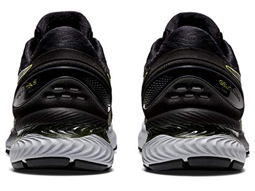 ASICS Men's Gel-Nimbus 22 Running Shoes, 10M, Carrier Grey/Lime Zest