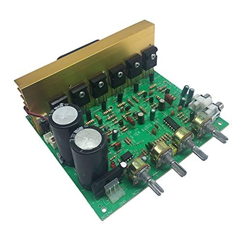 KU Syang Placa Amplificadora de Subwoofer 2,1 Placa Amplificadora de Alta Potencia de 3X80 W con Ventilador de RefrigeracióN Que Puede Conectar una Placa