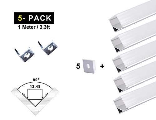 Ogeled LED Profi Aluminium Profile für LED-Strips (Zubehör) (L10mm (5 Stück), 1m)