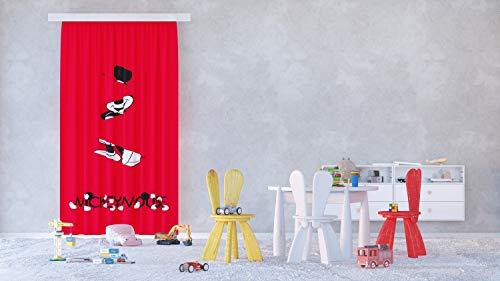 AG Design Disney-Cortinas para habitación Infantil, diseño de Mickey Mouse, Multicolor, 140 x 245 cm