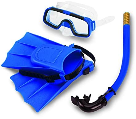 VGEBY Kids Snorkel Set Silicone Children Diving Swimming Foot Flipper Fins with Snorkel Scuba product image