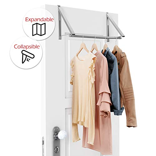 StorageMaid Over The Door Closet Rod - Heavy-Duty Hanging Clothes Rack Organizer and Hanger for Clothing Or Towels - Great for Home and Dorm Room