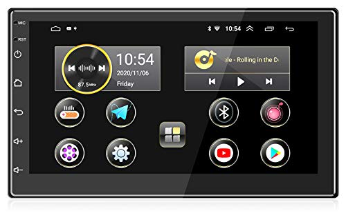 ANKEWAY 2021 Nuevo 7 Pulgadas [2G+16G] Android 10,1 Radio Coche 2 DIN con HiFi+WiFi+Bluetooth+RDS+FM+Am+Navegación GPS, Sistema Multimedia de Internet para Coche con Pantalla Táctil HD de 1080P(12V)