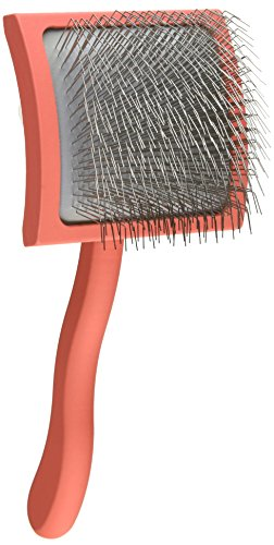 Chris Christensen Long Pin Slicker Brush, Large, Coral