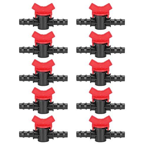 minifinker Válvula de púas de riego, 10 Piezas, válvula de Interruptor de riego por Goteo, Grifo de jardín para Evitar Fugas de Agua para jardín