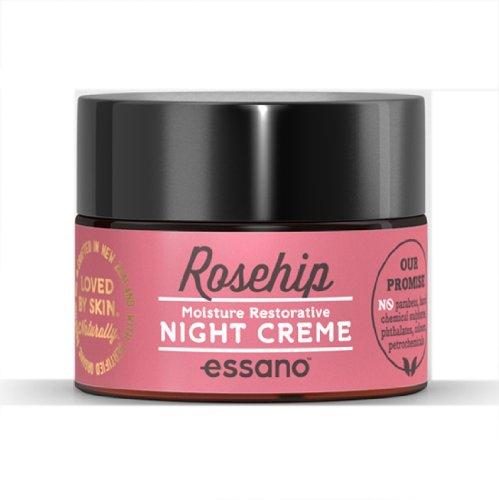 Rosehip By Essano crema de noche hidratante y restauradora
