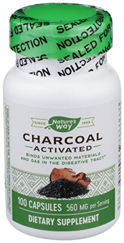 Nature's Way, carbón activado, 280mg (100Cápsulas)