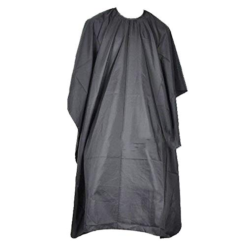 Barber Cape, Hair Salon Cape Hairdressing Gown Barbers Cape Black Full Length Cloak Professional Hairdresser Gown Waterproof And Anti-Staining Used For Hair Washing Hair Cutting Hair Coloring