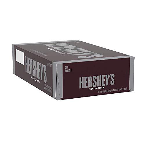 Hershey's Milk Chocolate Candy Bars, Bulk Candy, 1.55-Oz. Bars, 36 Count