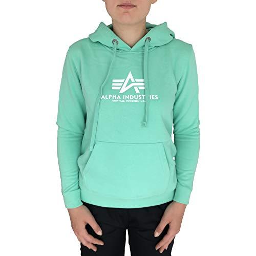 ALPHA INDUSTRIES Damen New Basic Hoody Wmn Sweatshirt, Verde, XL
