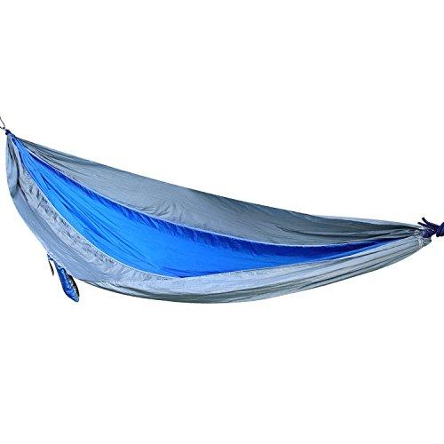 OUTAD Hangmat voor meerdere personen, 270 x 135 cm, belastbaar tot 300 kg, outdoor, ultra-licht, reis-hangmat, draaglastset met bevestiging, 2 karabijnhaken en 2 touwen, reizen, camping, tuin, trekking, strand, reishammock