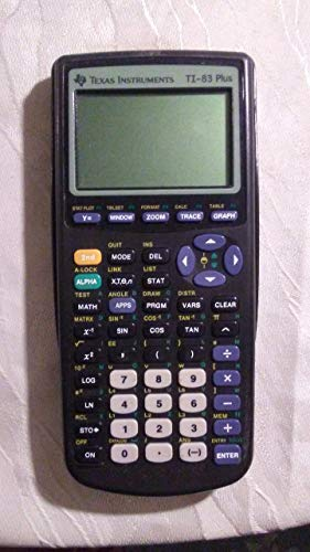 Texas Instruments TI-83 Plus Programmable Graphing Calculator (Packaging and Colors May Vary) (Renewed)