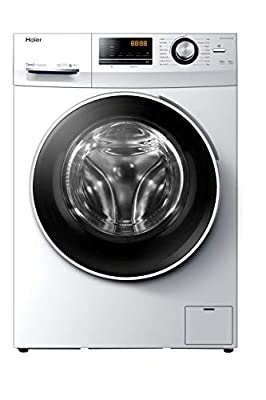 Haier HW100-B14636N Freestanding Washing Machine with LED Display, 10kg Load, 1400RPM, Direct Motion, White