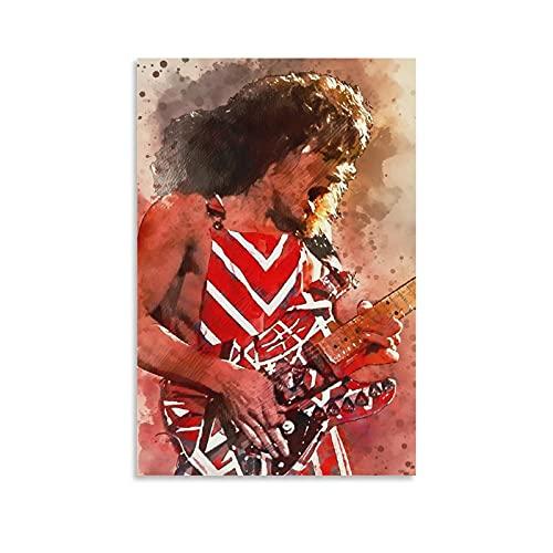 Eddie Van Halen 14 Poster Canvas Art Poster en Muur Art Picture Print Moderne Familie slaapkamer Decor Posters 12x18inch…