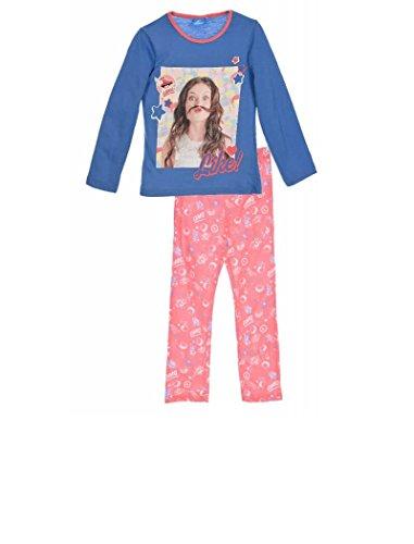 Soy Luna - Pijama NIÑA niñas Color: Azul Talla: 6 años