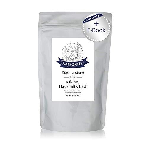 Zitronensäure in Lebensmittelqualität E330 – wasserlösliches Pulver – 500 g in wiederverschließbarem Beutel – Natürlicher Entkalker der Natronfee