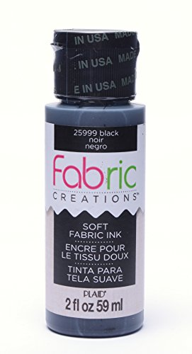 Fabric Creations Fabric Ink in Assorted Colors (2-Ounce), Black