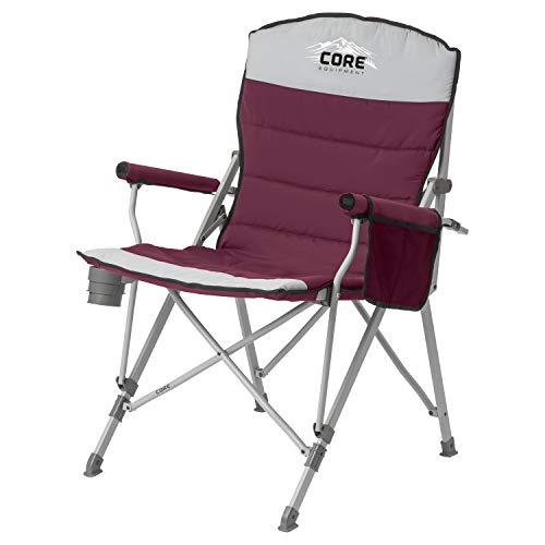 CORE Equipment Folding Padded Hard Arm Chair (Wine)
