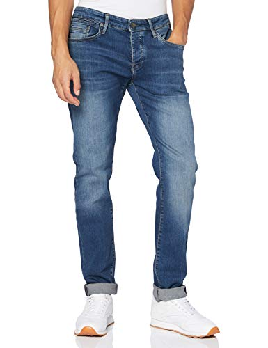 Mavi Herren YVES Slim Jeans, Mid Indigo Comfort, W34/L32