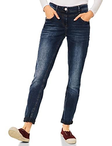 Cecil Damen 374440 Jeans, Blue Black, W32/L30