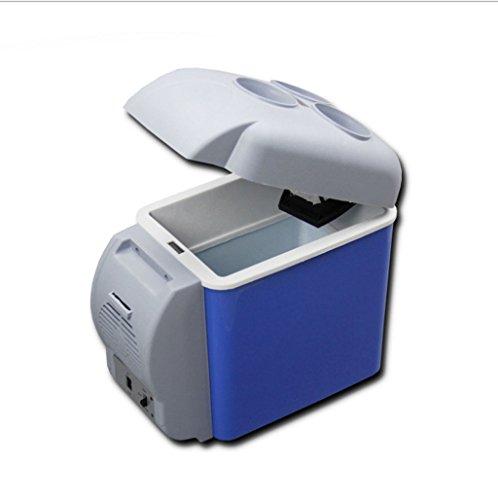 Q-HL Auto Elektrische Kühlschrank Kühlbox, 7.5L Auto Kühlschrank, tragbare Mini-Kühlschrank, AC und DC Hotspot-System, Thermostat, Medikamentenlager, Kosmetik-Kühlschrank