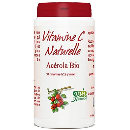 Vitamine C - Acérola Bio 1000 mg- 2,2 g- 100 comprimés