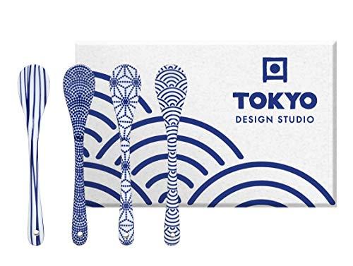 TOKYO design studio Nippon Blue - Juego de cucharas (4 unidades)