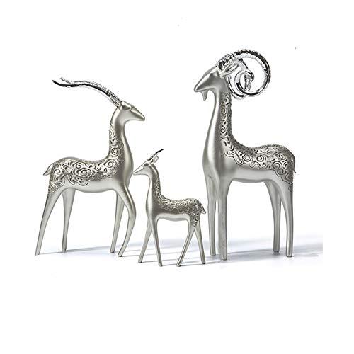 Fengshop Adornos Cabra Creativa decoración Sala de Estar gabinete de Vino gabinete de televisión Decoraciones caseras exquisitas estatuas de Resina/esculturas/estatuilla Adornos para el hogar